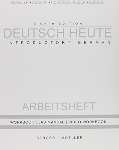 9780618666881: Deutsch Heute Workbook + Answer Key 8th Ed (German Edition)
