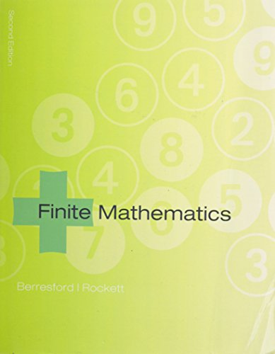 Finite Math, Custom Publication: Berresford, Geoffrey C.