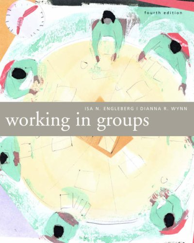 9780618677429: Working in Groups: Communication Principles and Strategies