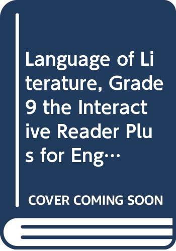 9780618678594: McDougal Littell Language of Literature: The InterActive Reader Plus for English Learners with Audio CD 10pack Grade 9