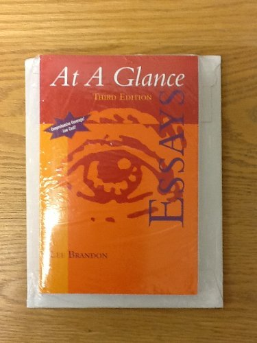 9780618680214: At a Glance:essay 3rd Ed + Grammar Compact Disc + Expressways 5.0 Compact Disc