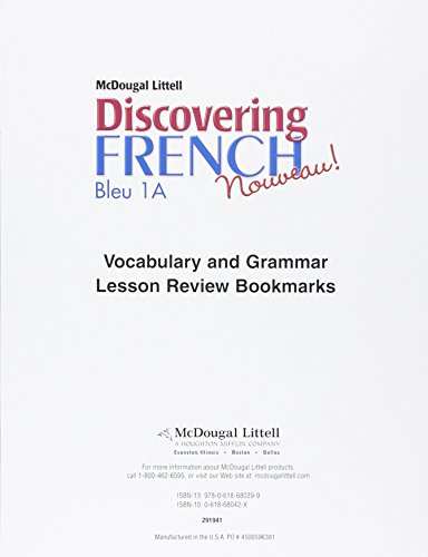 9780618680399: Discovering French, Nouveau!: Lesson Review Bookmarks Premiere Partie Level 1A (French Edition)