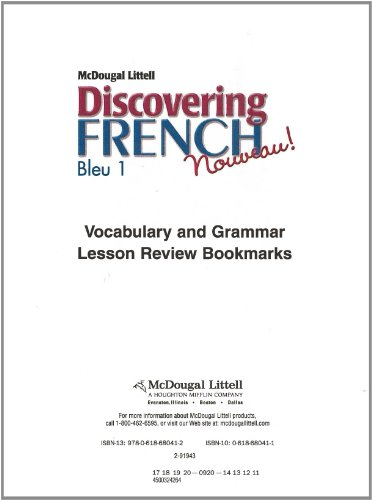 9780618680412: Discovering French, Nouveau!: Lesson Review Bookmarks Bleu Level 1 (French Edition)