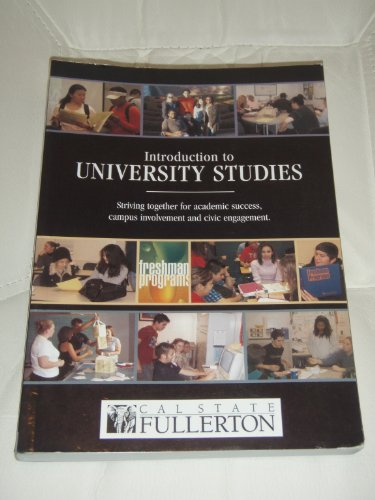 9780618681099: Introduction to University Studies: Striving together for academic success, campus involvement and civic engagement