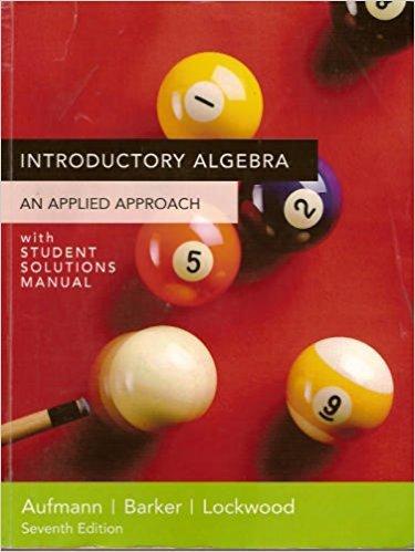 9780618683208: Introductory Algebra, Custom Publication