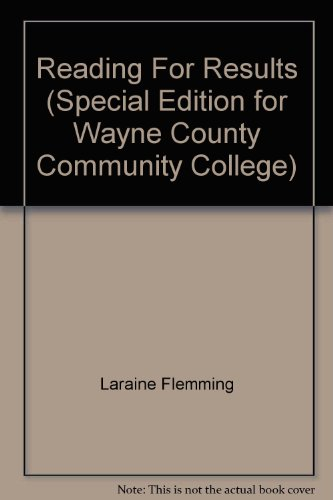 9780618684205: Reading For Results (Special Edition for Wayne County Community College)