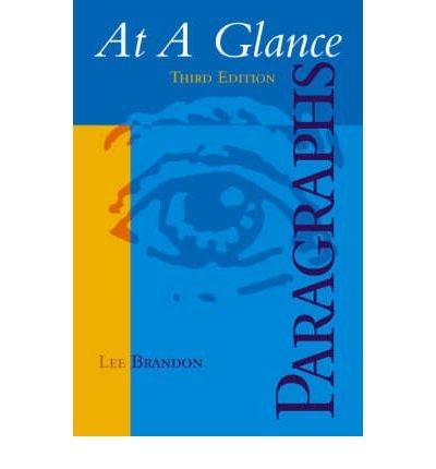 9780618693399: At a Glance Paragraphs 3rd Ed + at a Glance Sentences 3rd Ed