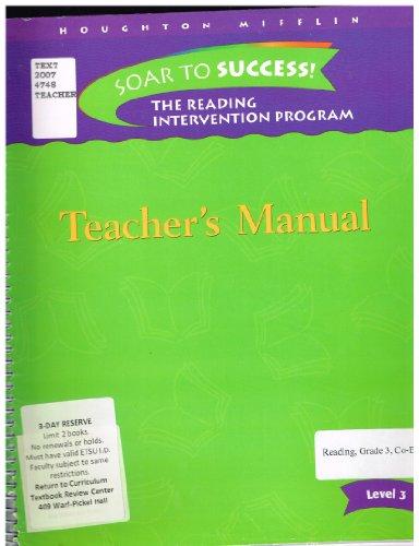 9780618695058: Soar to Success: Teacher Manual Level 3 2006