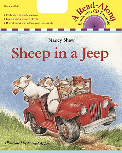 9780618695225: Sheep in a Jeep (Read-Along Book & CD)