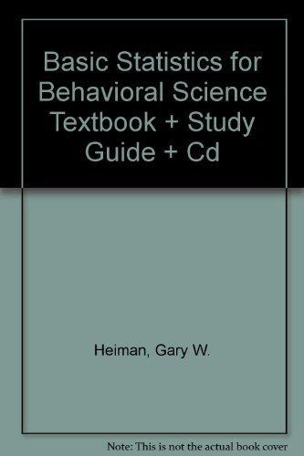9780618696772 - Heiman, Gary W.: Basic Statistics For Behavioral Science 5th Edition - Livre