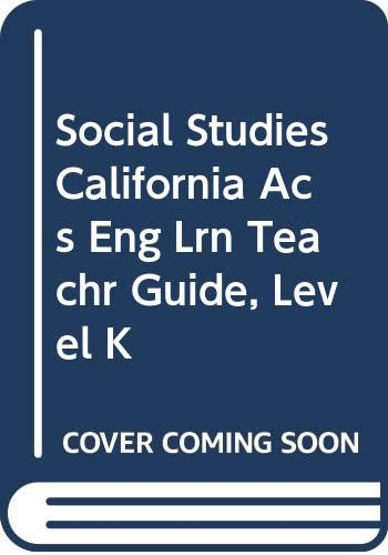 9780618697663: Houghton Mifflin Social Studies California: Acs Eng Lrn Teachr Gd Lk 2007