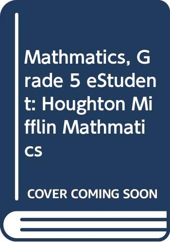 9780618698455: Houghton Mifflin Math: Student eMathBook CD-ROM Grade 5 2007