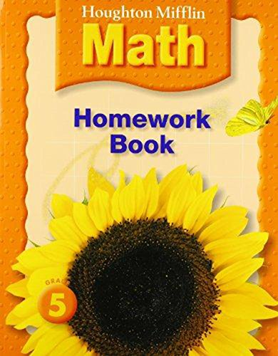 9780618698844: Houghton Mifflin Math: Homework Book (Consumable) Grade 5