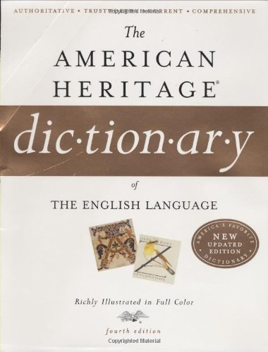 9780618701728: American Heritage Dictionary of the English Language, Fourth Edition