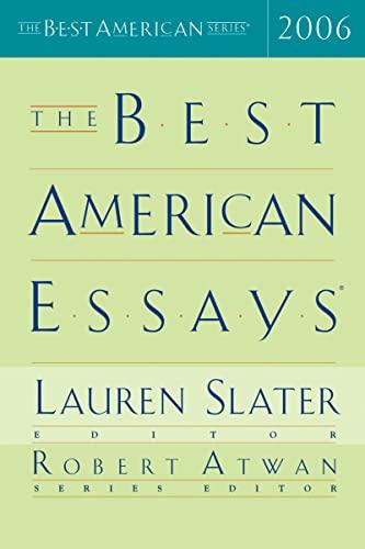 The Best American Essays 2006: Peter Selgin