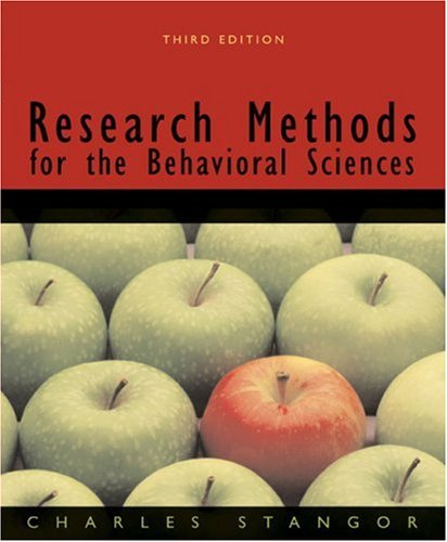 9780618705917: Research Methods for the Behavioral Sciences