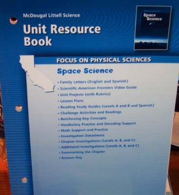 9780618708116: McDougal Littell Science California: Unit Resource Book Grade 8 Space Science