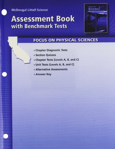 9780618708154: McDougal Littell Science California: Assessment Book with Benchmark Tests Grade 8 Physical Science