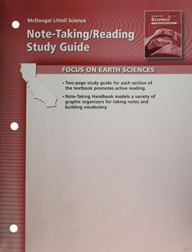 9780618708208: Note-Taking / Reading Study Guide, Focus on Earth Sciences