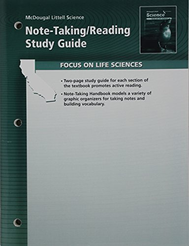 Science Note-Taking Reading Study Guide Life Science: n/a