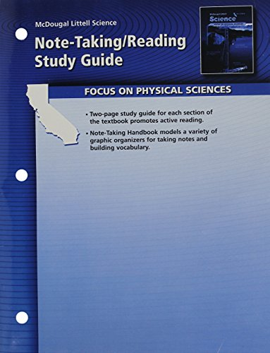 9780618708222: McDougal Littell Science California: Note-taking Reading Study Guide Grade 8 Physical Science