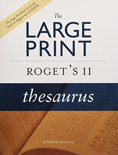 9780618714865: The Large Print Roget's II Thesaurus, Revised Edition