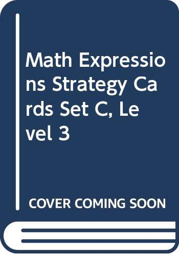 9780618715213: Math Expressions: Strategy Cards, Set C Level 3
