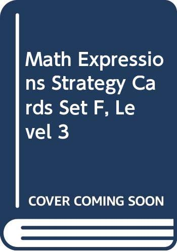 9780618715244: Math Expressions: Strategy Cards, Set F Level 3