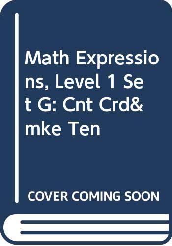 Math Expressions: Cnt Crd&Mke Ten L1 Setg: MIFFLIN, HOUGHTON