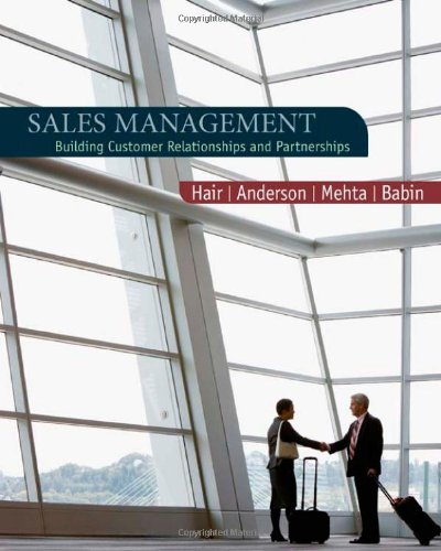 9780618721016: Sales Management: Building Customer Relationships and Partnerships