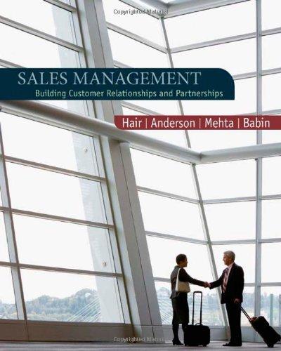 9780618721016: Sales Management: Building Customer Relationships and Partnerships