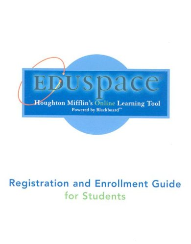 9780618721610: Eduspace Registration and Enrollment Guide for Students