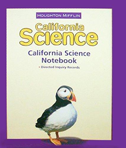 9780618725816: Houghton Mifflin Science California: NoteBook Consumable Level 3
