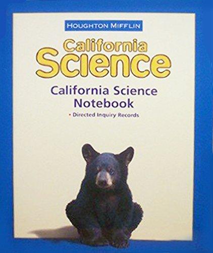 9780618725823: Houghton Mifflin Science California: NoteBook Consumable Level 4
