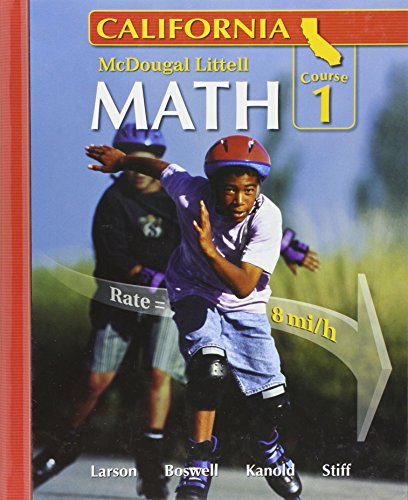9780618726509: California: Math Course 1