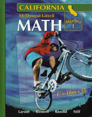 9780618726523: McDougal Littell Middle School Math California: Algebra 1, Student Edition Course 3, 2008