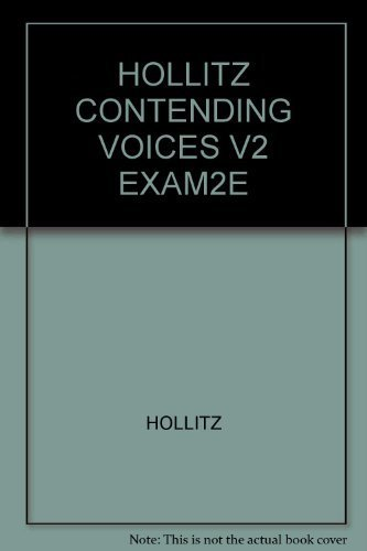 9780618731787: Contending Voices: Biographical Explorations of the American Past Since 1865, Vol. 2 , 2nd Edition - Instructor's Exam Copy