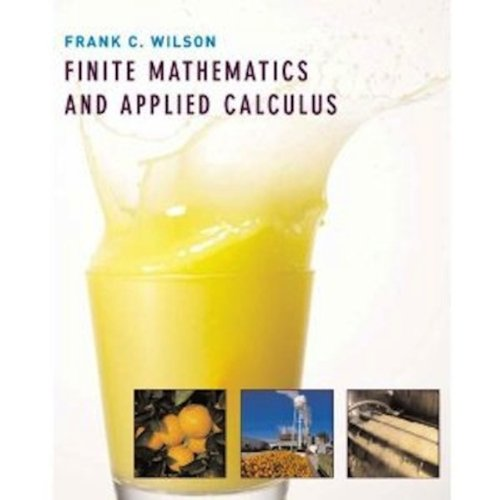 9780618732654: Finite Mathematics and Applied Calculus