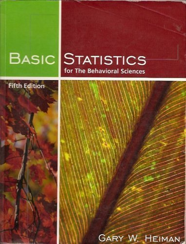 9780618733293: Basic Statistics for the Behavioral Sciences