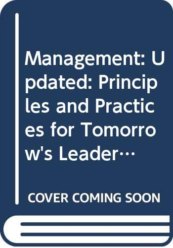 Management: Principles and Practices for Tomorrow's Leaders: Gary Dessler