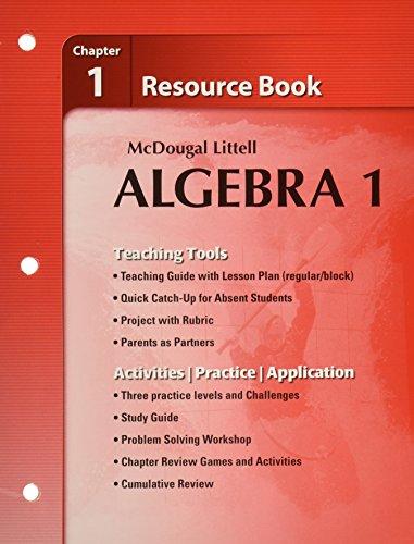 9780618734122: Holt McDougal Larson Algebra 1: Resource Book: Chapter 1