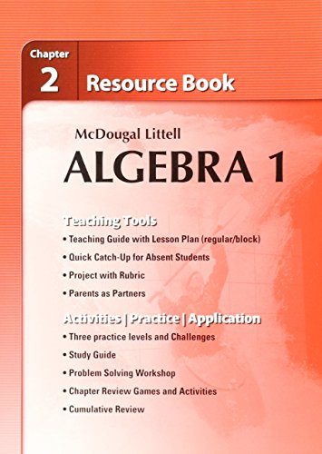 Algebra 1 Resource Book Chapter 2: McDougal Littell