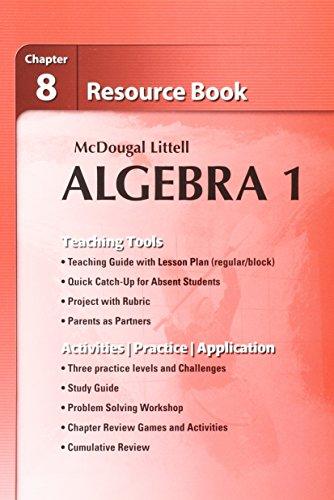 9780618734238: Holt McDougal Larson Algebra 1: Resource Book: Chapter 8