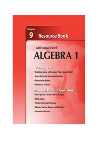 9780618734245: Holt McDougal Larson Algebra 1: Resource Book: Chapter 9