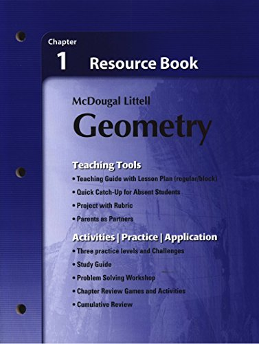 9780618734290: Holt McDougal Larson Geometry: Resource Book: Chapter 1