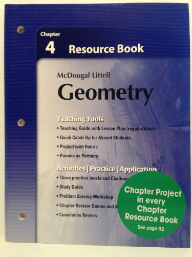 Holt McDougal Larson Geometry: Resource Book: Chapter: MCDOUGAL LITTEL