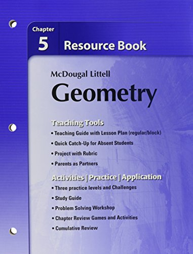 9780618734344: Holt McDougal Larson Geometry: Resource Book: Chapter 5
