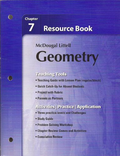 9780618734375 Holt McDougal Larson Geometry Resource Book