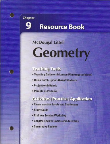 9780618734399: Holt McDougal Larson Geometry: Resource Book: Chapter 9