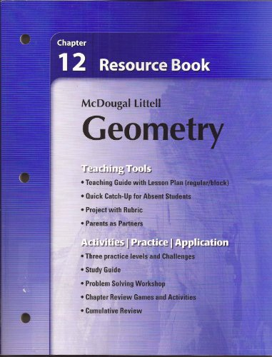 9780618734436: Holt McDougal Larson Geometry: Resource Book: Chapter 12